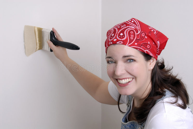 Download Painting Walls stock image. Image of pretty, attractive - 1997957