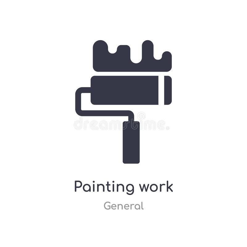 Painting work icon. isolated painting work icon vector illustration from general collection. editable sing symbol can be use for. Web site and mobile app vector illustration