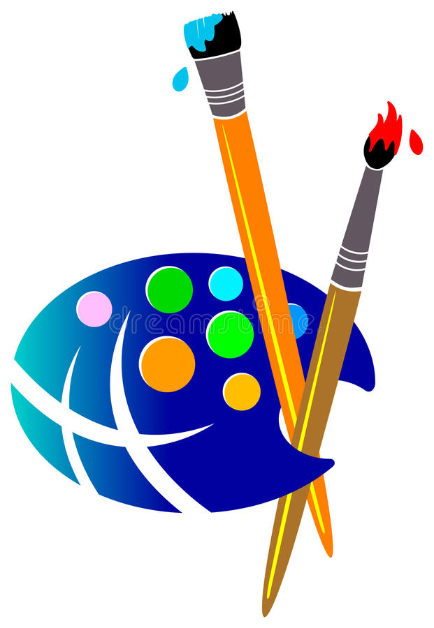 Painting world royalty free illustration