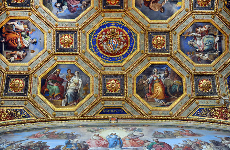 Paintings In The Vatican Editorial Photo. Image Of