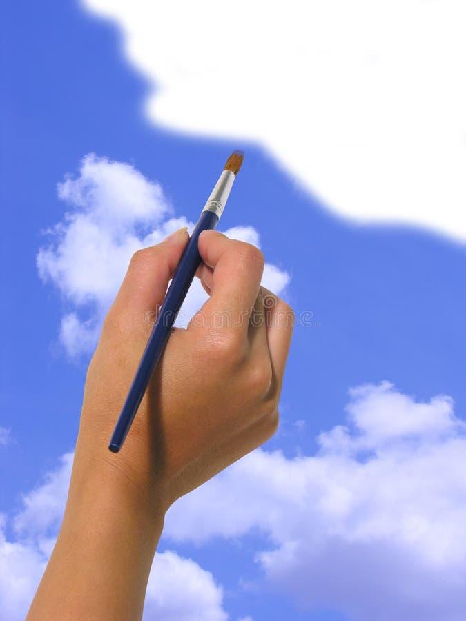 Paintint el cielo fotografía de archivo