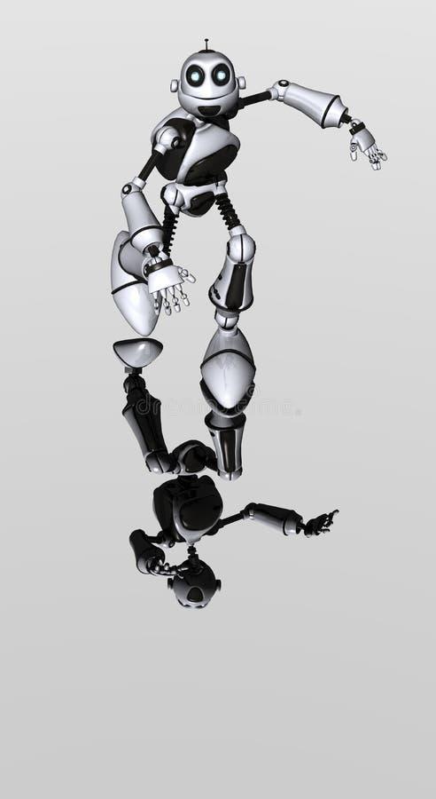 Paintjob idiot de blanc de robot illustration stock