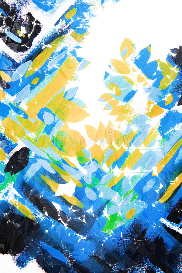 Paintography, foto met het schilderen wordt gecombineerd die vector illustratie