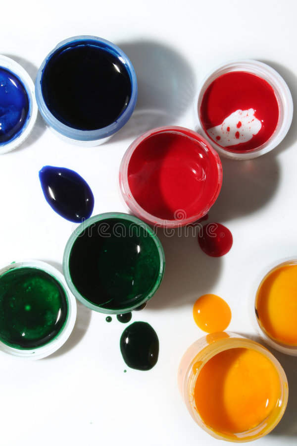 Paints stock photography