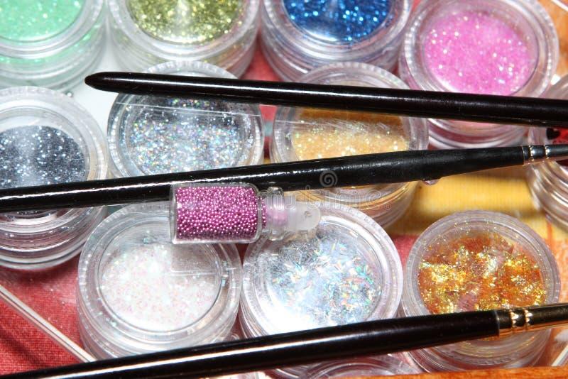 Paints, brushes stock photos