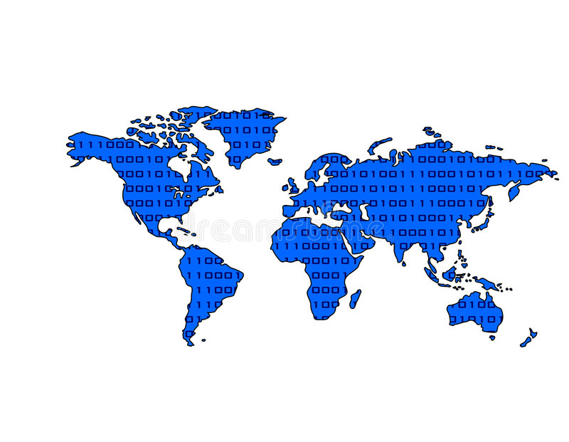 Download Paio Del Programma Di Mondo (blu) Illustrazione di Stock - Immagine: 350346