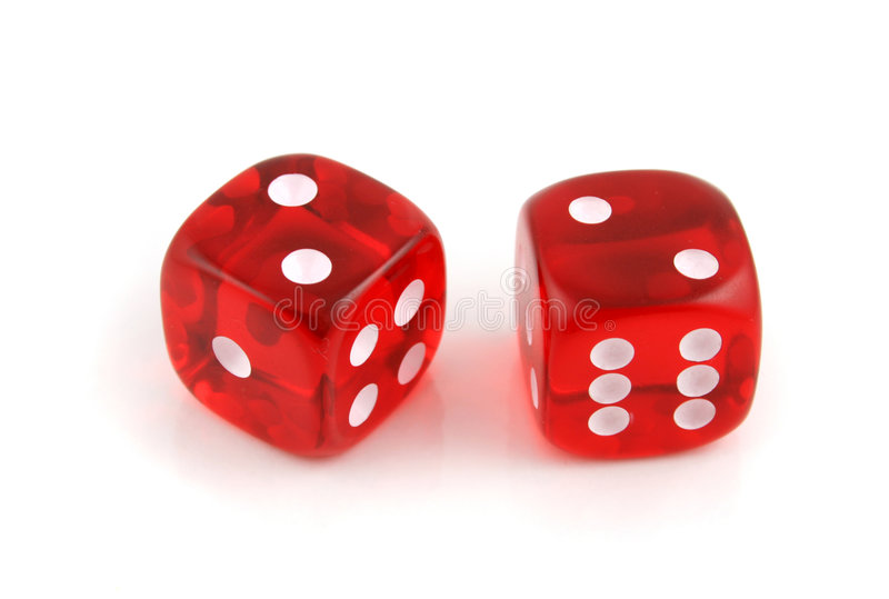 A Pair of 2s. 2 Dice close up- A Pair of 2s stock photography