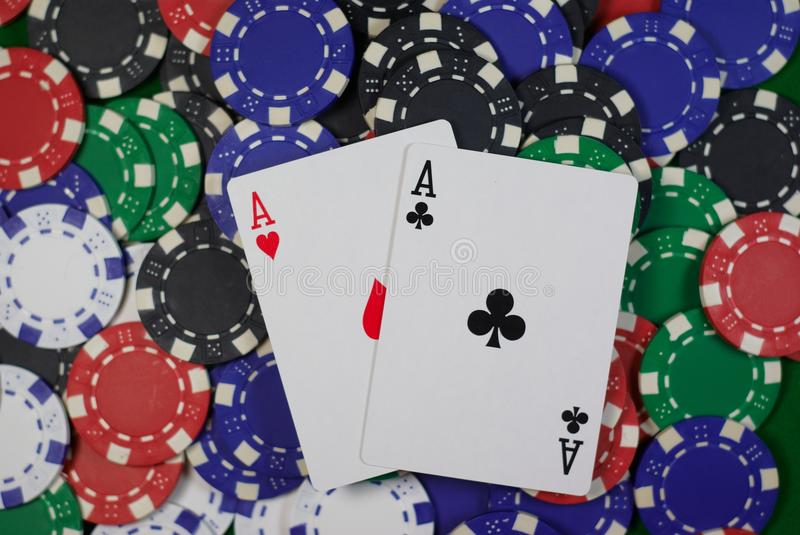 Pair of aces royalty free stock photo