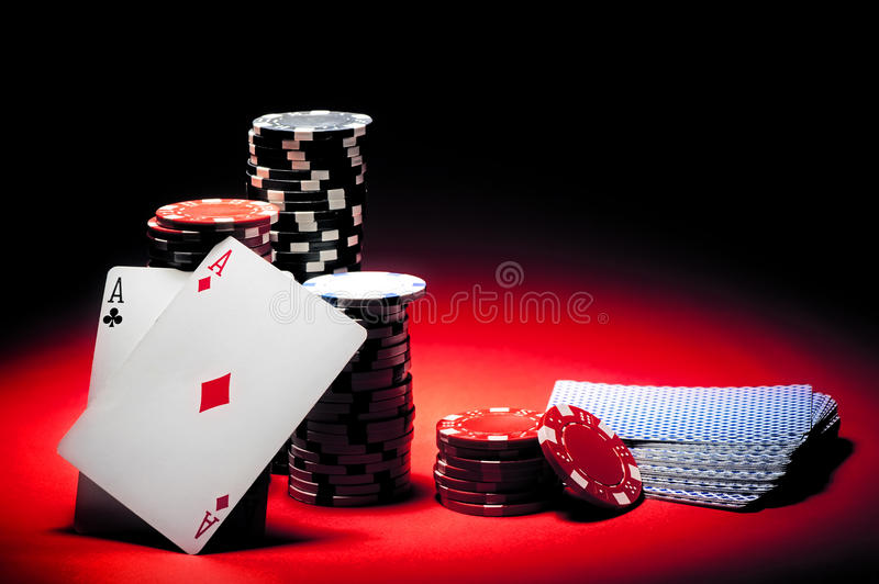 Download Pair of aces poker stock image. Image of pushing, felt - 27557001