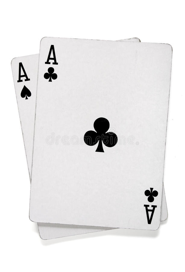 Download Pair Of Aces With Poker Cards Stock Image - Image: 10768333