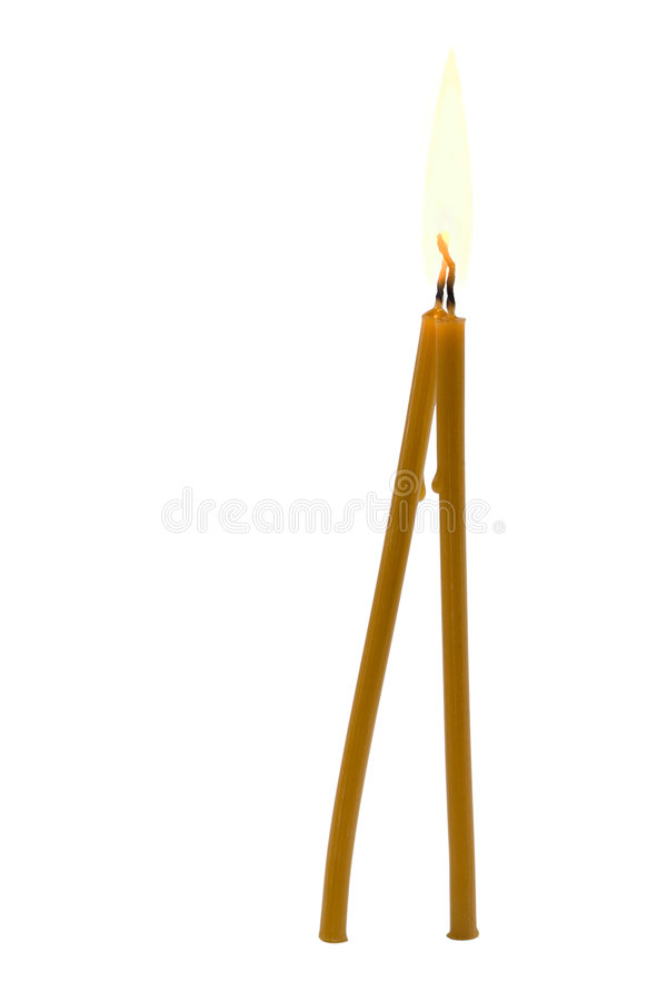 Pair of alight candles royalty free stock photo