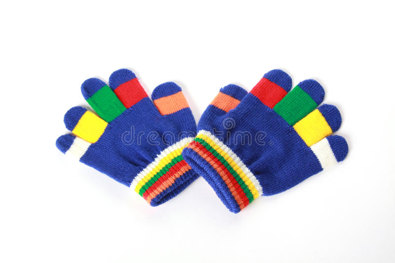 Download Pair Baby Gloves On White Background Stock Image - Image: 11847371