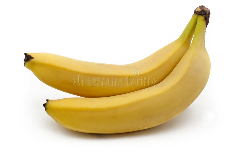 Pair of bananas royalty free stock images