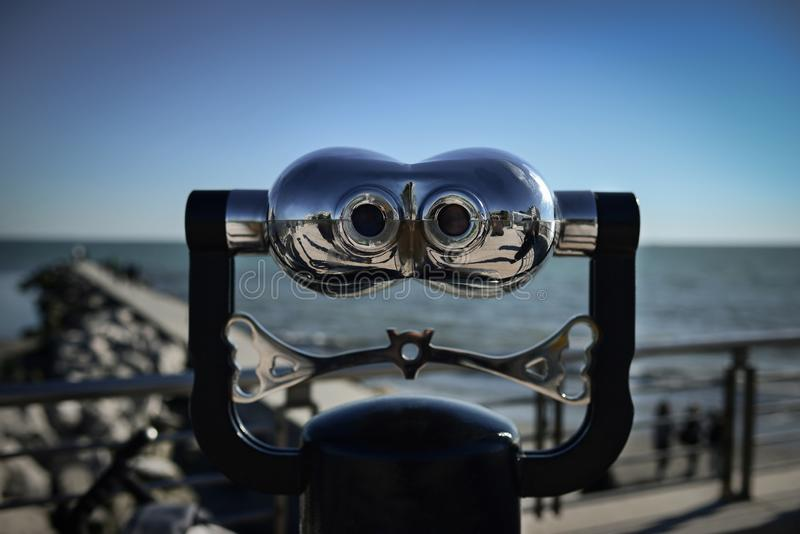 A pair of binoculars stock photo
