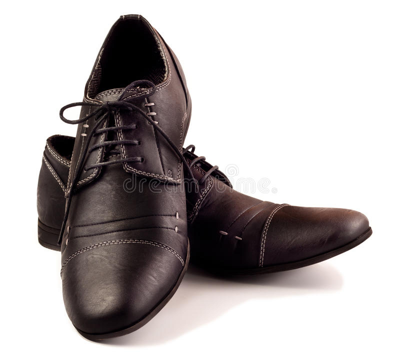 Download Pair of black male shoes stock image. Image of footwear - 21280781