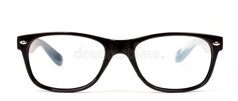 Pair of black modern eye glasses royalty free stock photo