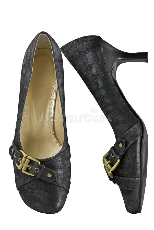 Pair Of Black Shoes Royalty Free Stock Photography