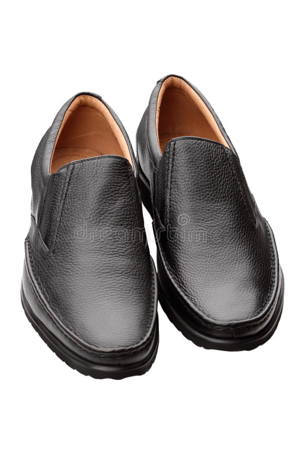 Pair of black shoes royalty free stock images