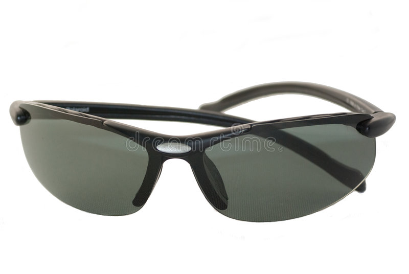 Pair of black sunglasses stock images