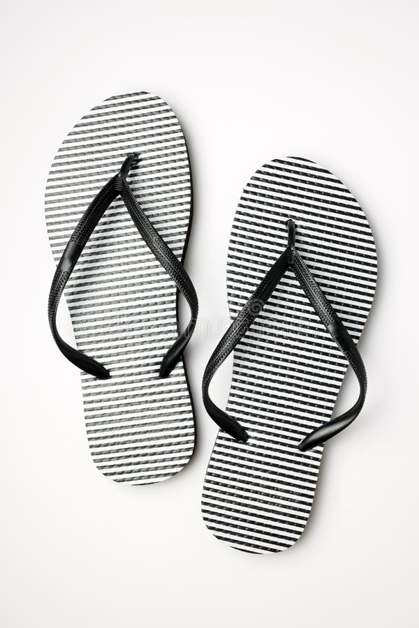 Summer shoes rubber flip flops isolated on white background royalty free stock image