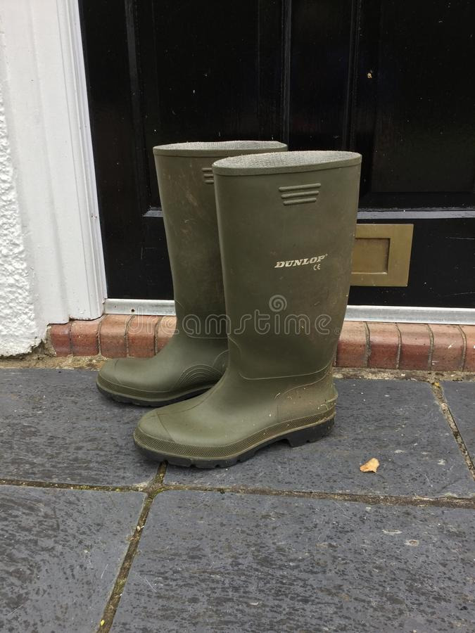 Pair of boots stock photography