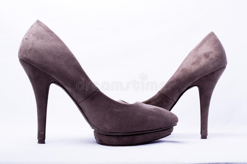 Download Pair of brown shoes stock image. Image of boot, female - 21685363