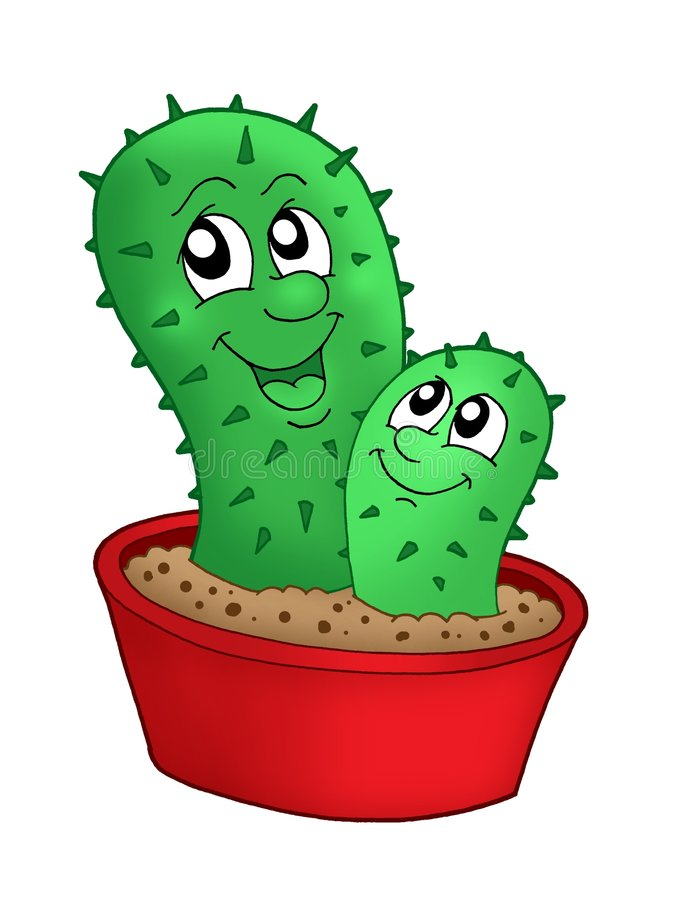 Download Pair Of Cactuses Royalty Free Stock Image - Image: 5515616