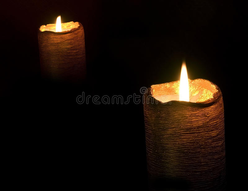 Download Pair of candles stock photo. Image of lighting, flame - 12651374