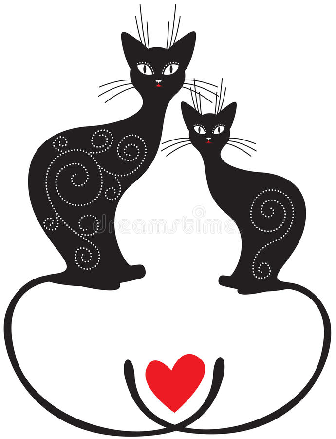 Download Pair Of Cats Royalty Free Stock Images - Image: 25920929