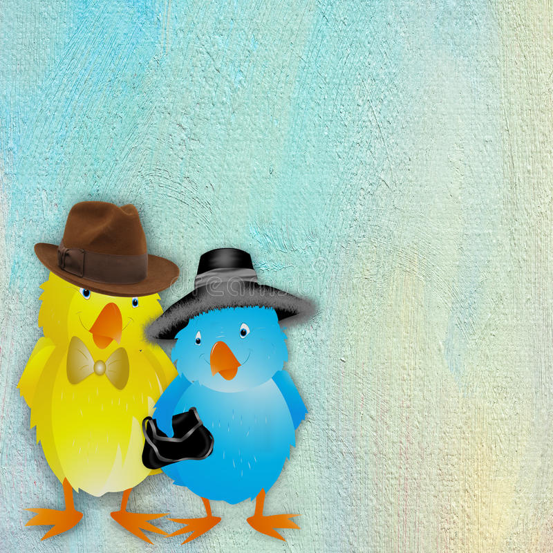 Download Pair Of Chicks Ready For Easter Royalty Free Stock Photos - Image: 28918298
