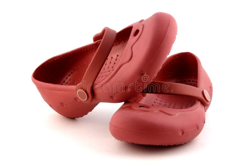 Download Pair Of Child Red Rubber Shoes Stock Image - Image: 13121653