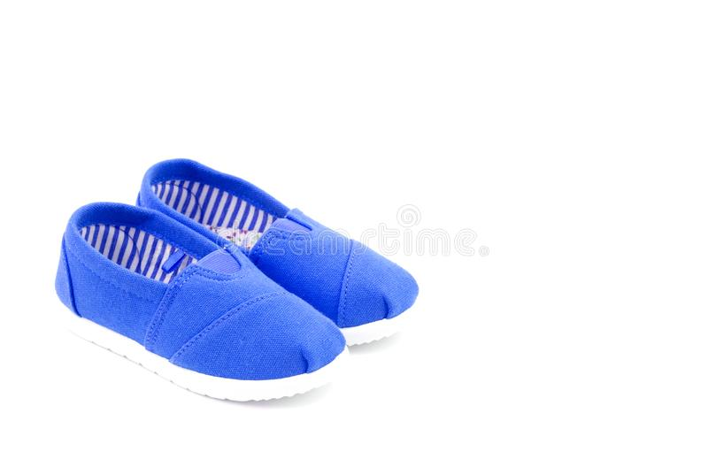 Pair of Children`s Shoes royalty free stock photography