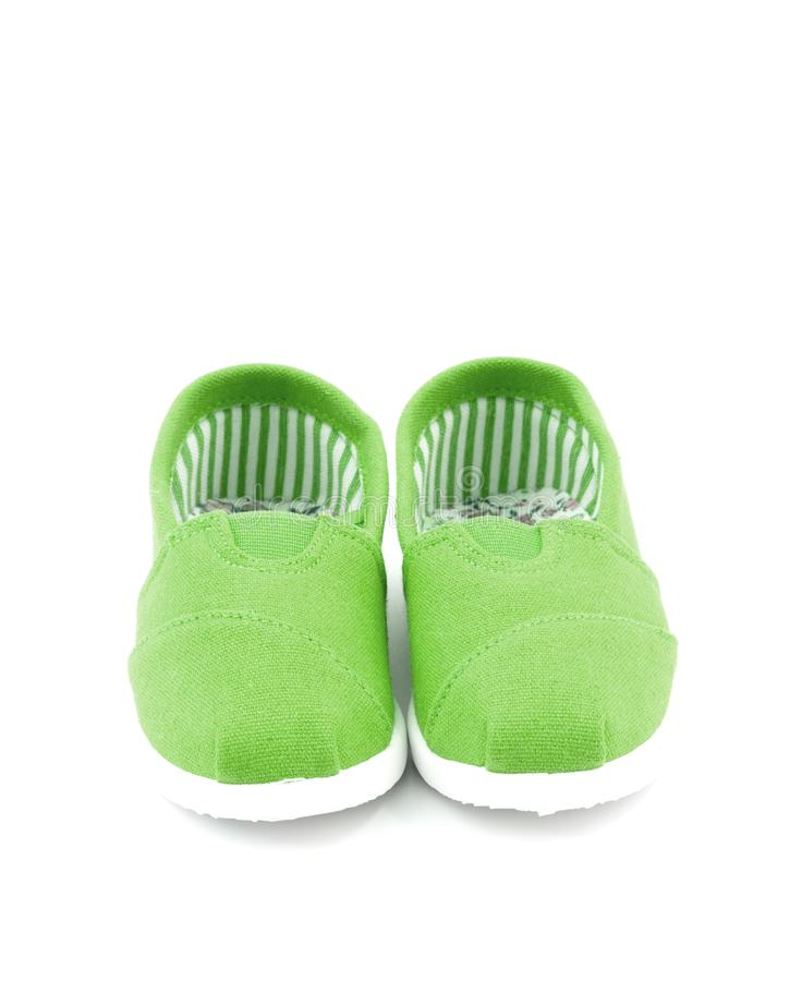 Pair of Children`s Shoes royalty free stock photos
