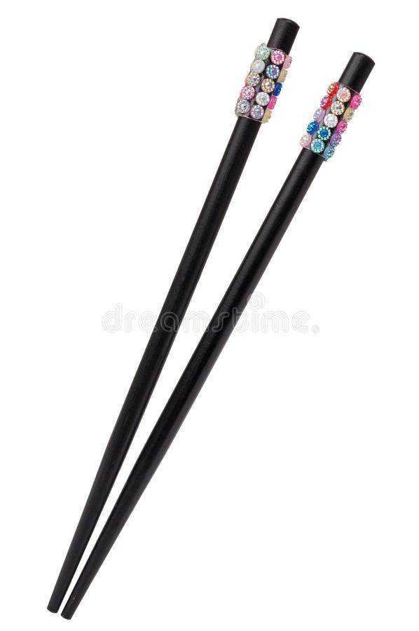 Pair of chinese hairsticks isolated royalty free stock images