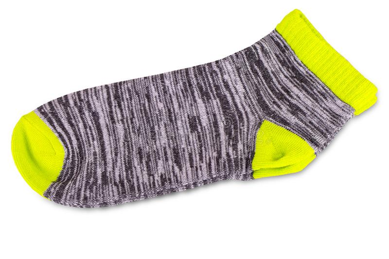 The pair of colored socks isolated on white royalty free stock image