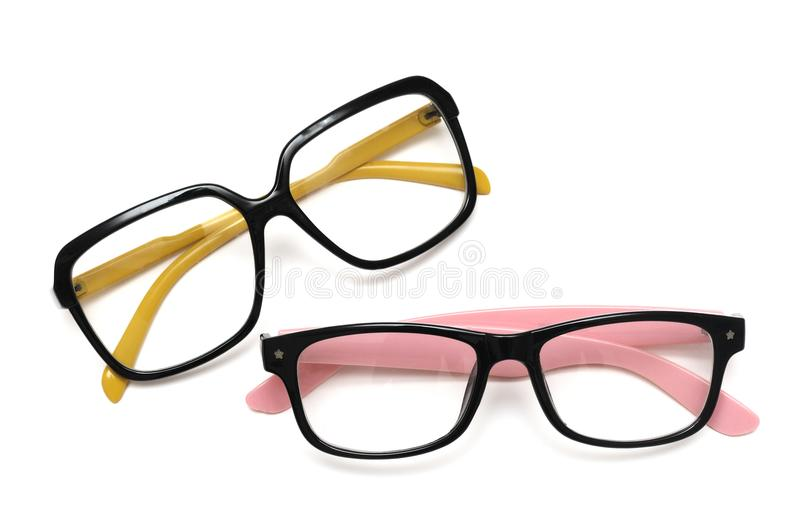 A pair of colorful decorative spectacles royalty free stock image
