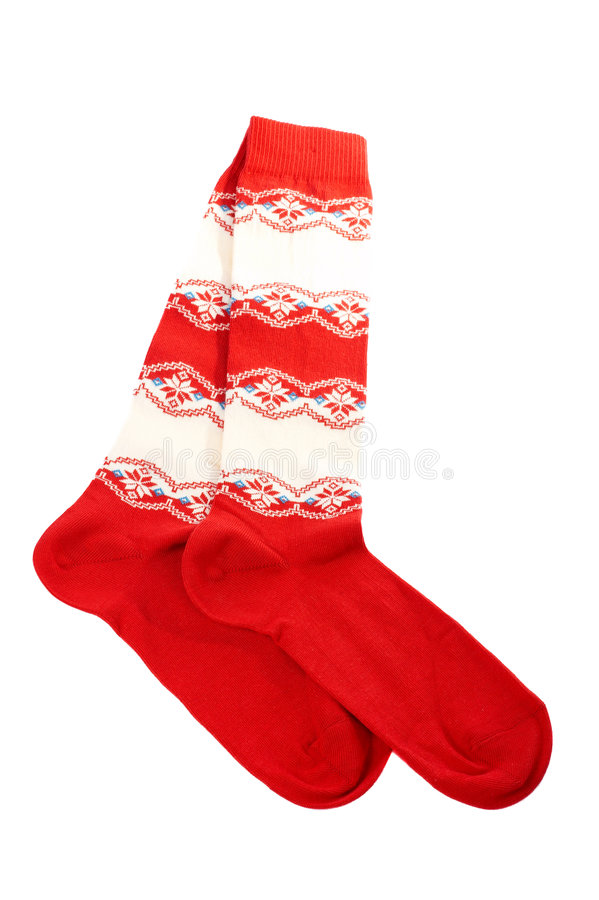 Pair of colorful socks stock photo