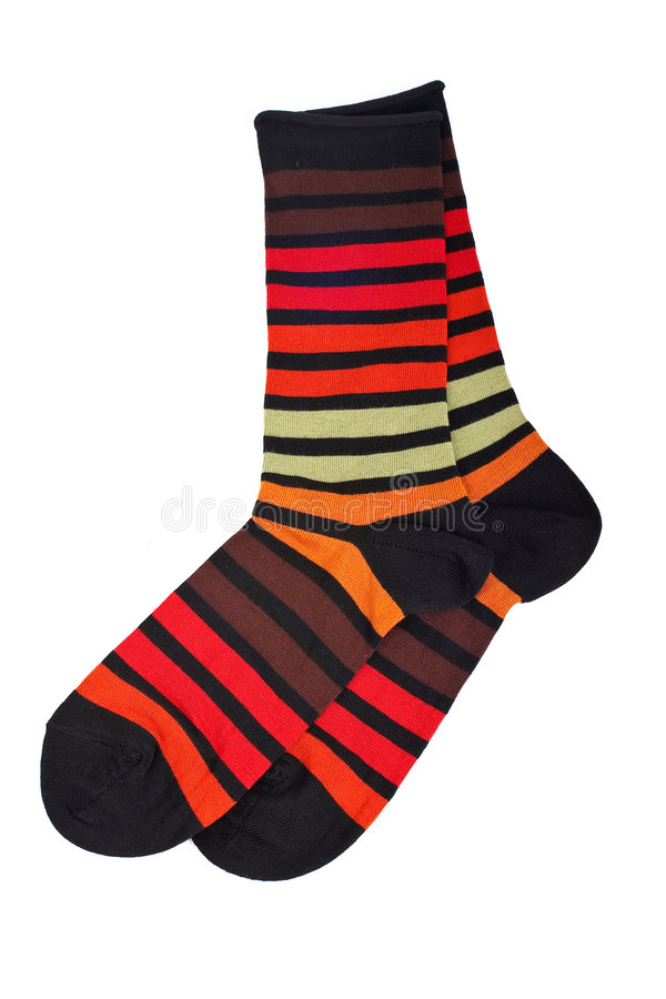 Pair of colorful socks royalty free stock photography