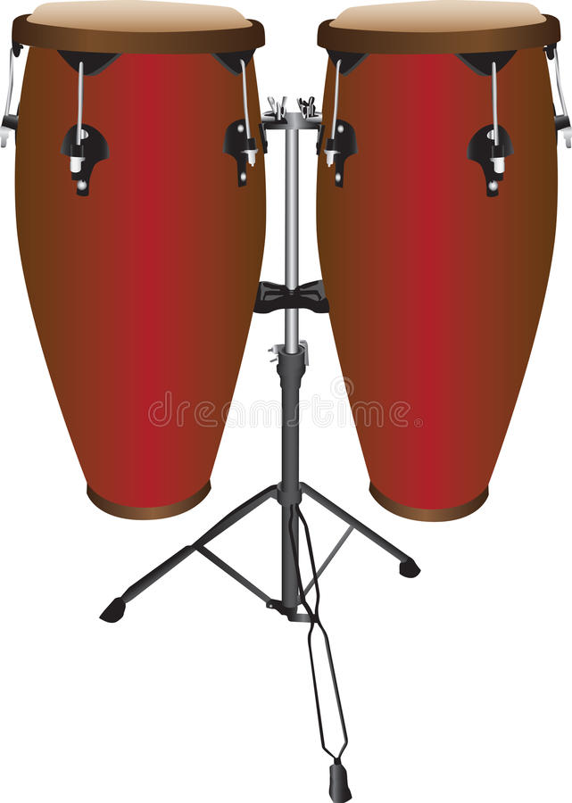 Download Pair Of Conga Drums Stock Vector Illustration Stand