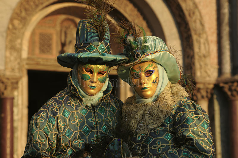 Pair Of Costumed People Stock Photo