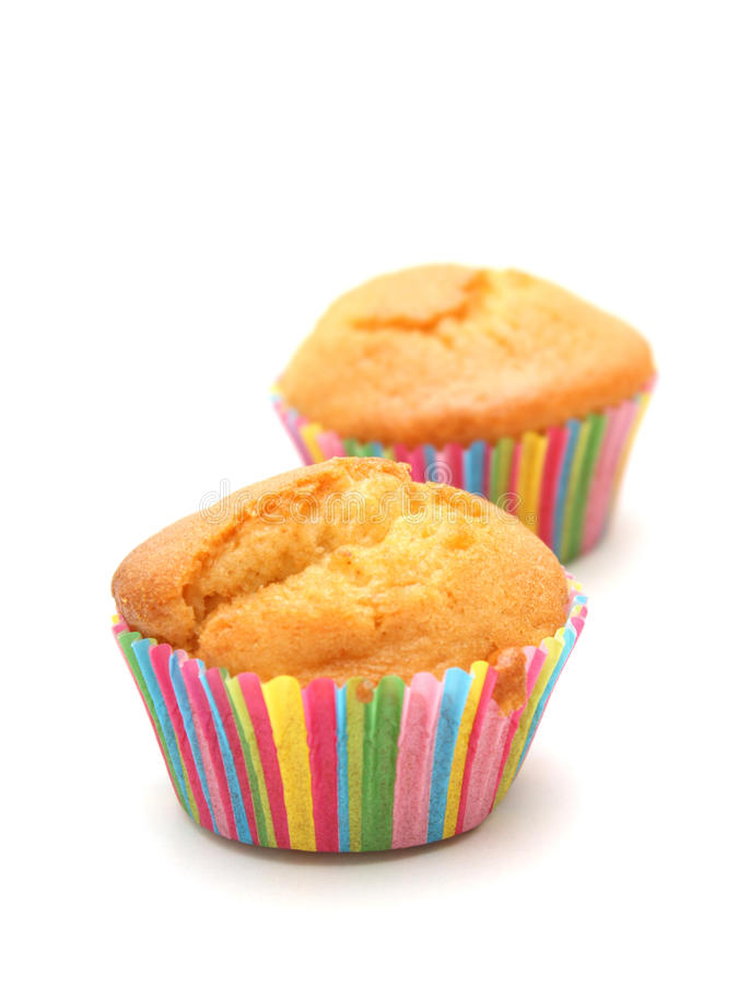 Pair of Cupcakes. An image of a pair of cupcakes, one being out of focus royalty free stock photo