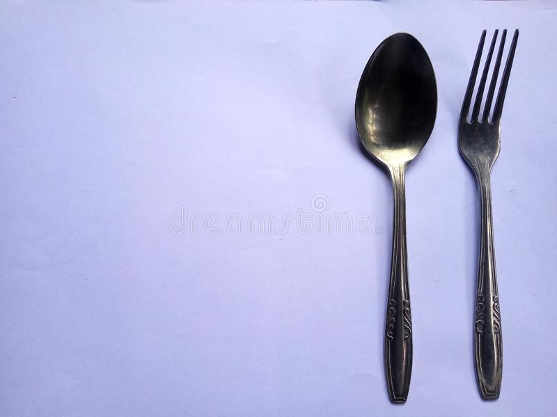 A pair of cutlery stock photography