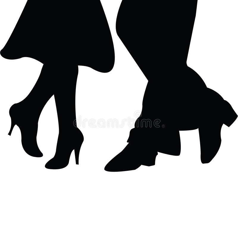 Download Pair of dancers stock illustration. Illustration of foot - 14209907