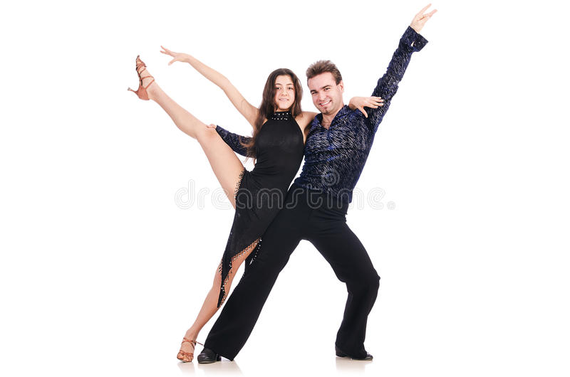 Download Pair of dancers isolated stock image. Image of clothing - 29210117