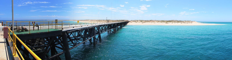Pair de marine, exmouth, Australie occidentale photos stock