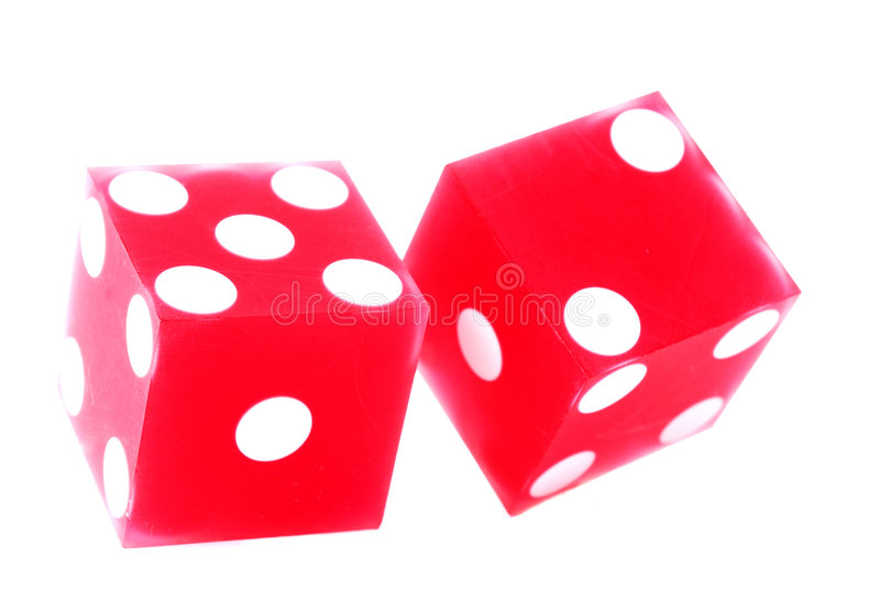 Pair Of Dice. Lucky number seven on a pair of dice stock image