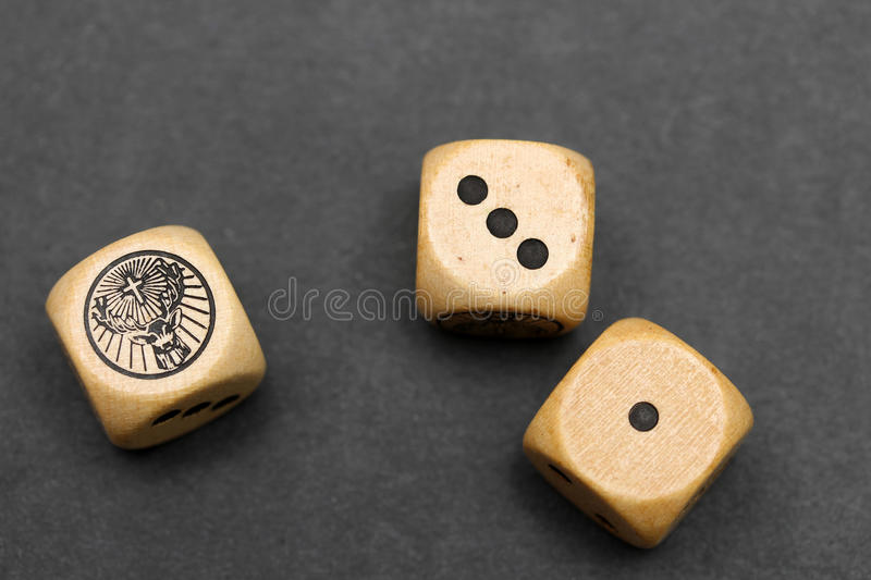 A pair of dice stock images