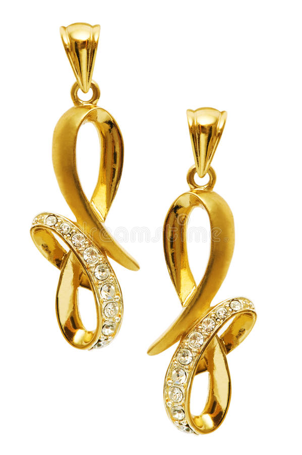 Download Pair Of Earrings Stock Photo - Image: 11886210