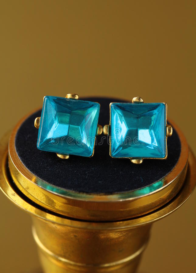 Download Pair Of Earrings Topaz Jewelry Stud Stock Image - Image: 27329045
