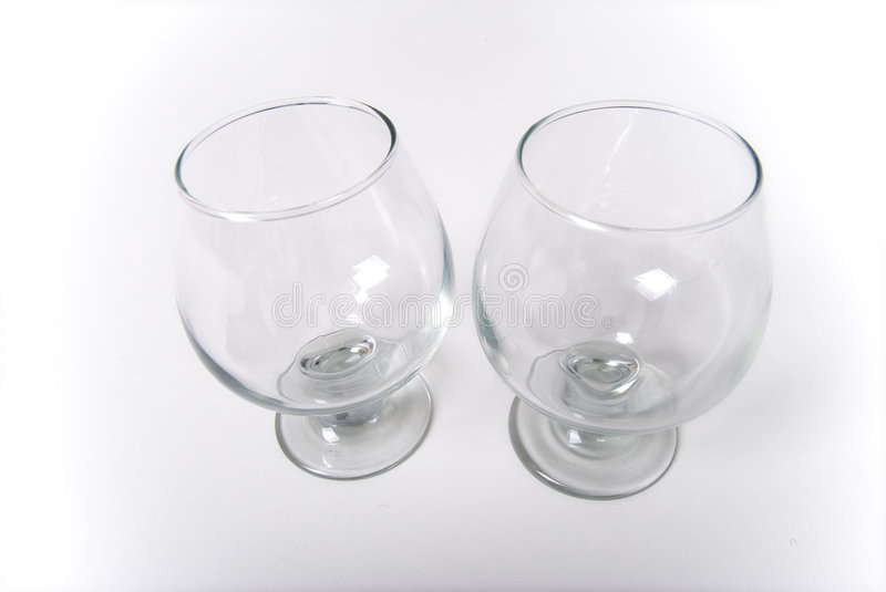 Pair Of Empty Wine Glasses Royalty Free Stock Images